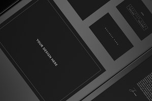 8 Minimal Black Stationary Mockups