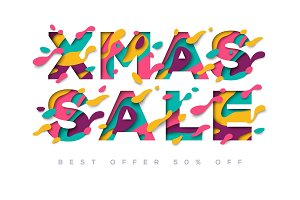 Xmas Sale typography design