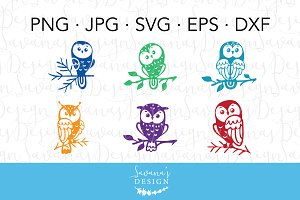 Owl Clipart and Owl SVG Files