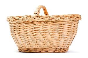 Empty basket on white