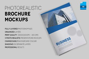 Photo Realistic A4 Brochure Mockups