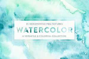 85 Watercolor Textures + Extras!