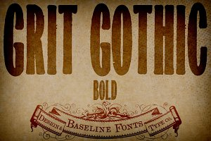 Grit Gothic Bold: Grit History B