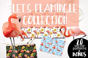 Let's Flamingle 20 Vector Collection