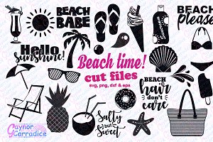 Beach svg silhouette bundle