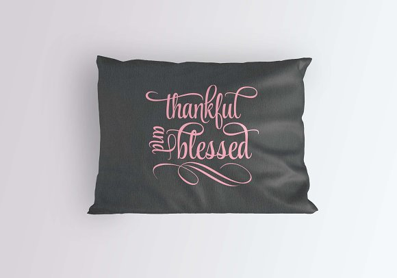 Thankful And Blessed Svg Dxf Png Eps Pre Designed Illustrator Graphics Creative Market