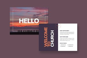 Hello Postcard Template