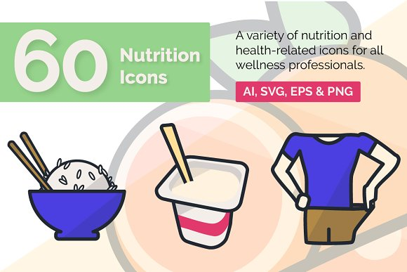 60 Nutrition Icons