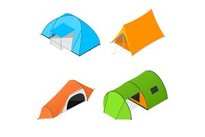 Color Camping Tent Set
