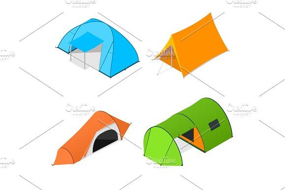 Color Camping Tent Set