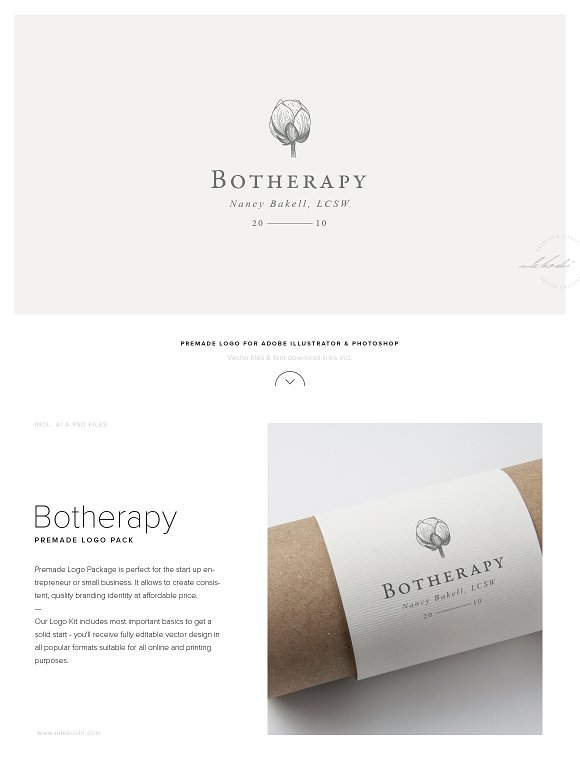 Herbal Logo Design Botherapy