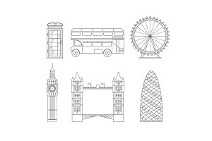 London City Thin Line Art