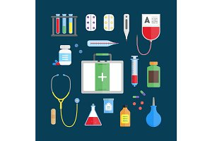 Medical Healthcare Equipment Set