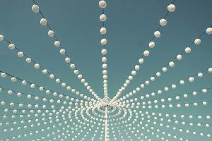 White decorative lanterns
