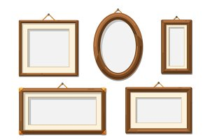 Picture wooden photo frames