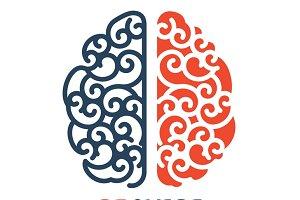 Human linear brain logo