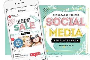 Spring Social Media Templates Pack