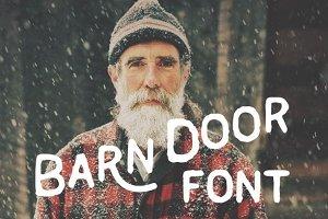 Handmade Barn Door font