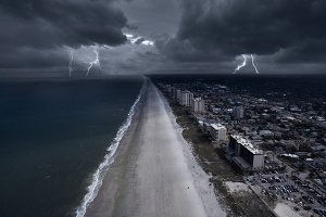 Thunderstorm in the coast of Florida