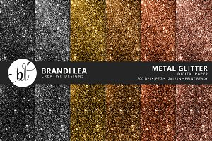 Metal Glitter Digital Paper