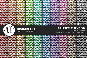Chevron Glitter Digital Paper