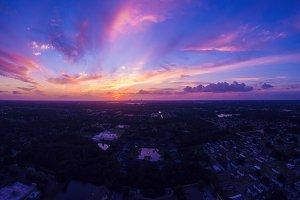 Sunset in Orlando Florida