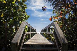 Beach entrance Cocoa Beach Florida
