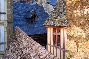 Rooftops of Mont Saint-Michel