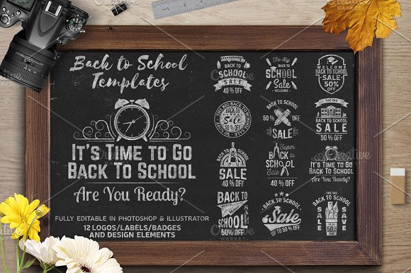 Back to School Sale Collect-Graphicriver中文最全的素材分享平台