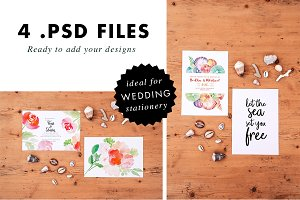 Quotes & Wedding Stationery Mockups