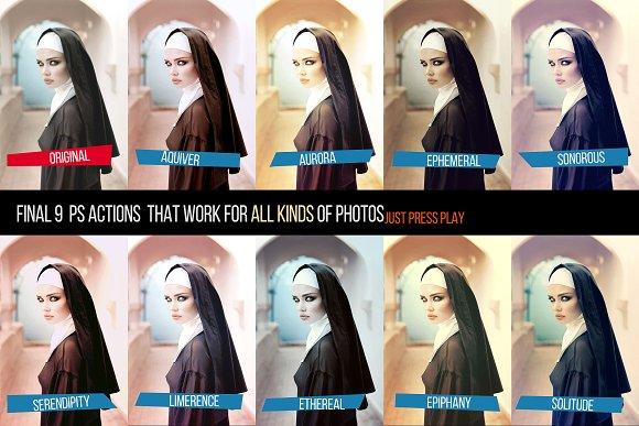 Final 9 Photoshop Actions Set