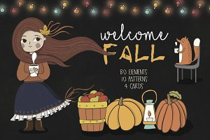 Welcome fall! Vector autumn pack