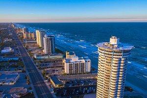Aerial view of Daytona Beach