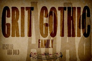 Grit Gothic™ Family