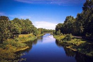 River inside park in Orlando