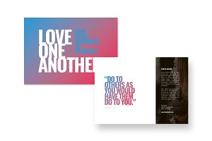 Love Postcard Template