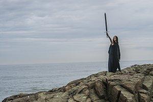 Fantasy Warrior holding sword