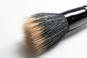 Professional face brush for powder