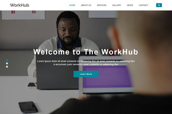 Workhub business html5 template bootstrap themes creative market workhub business html5 template bootstrap flashek Choice Image
