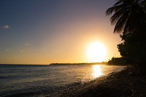 Sunset in southeast Puerto Rico