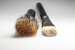 Tools makeup artist, brush