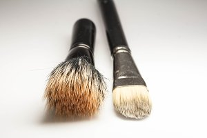 Brushes for make-up, top view