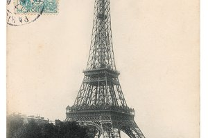 France, Paris, Eiffel tower, 1904