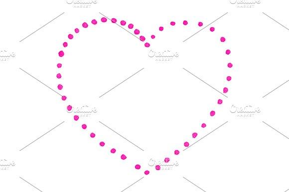 Crimson Dot Heart St Valentine's Day