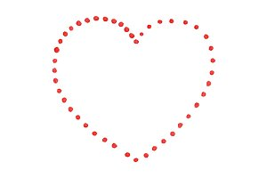 Red dot heart St Valentine's Day