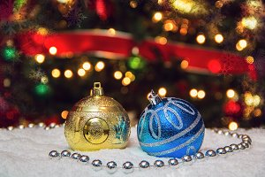 Ornaments with Christmas tree