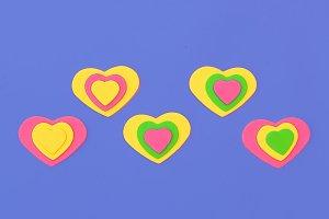 Mini hearts. Emotions.