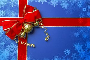 Christmas design blue background