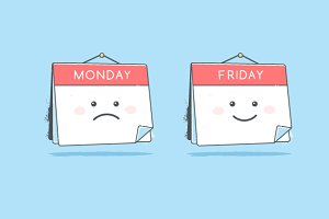 Monday and Friday