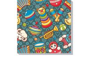 Children's toy. Seamless pattern.